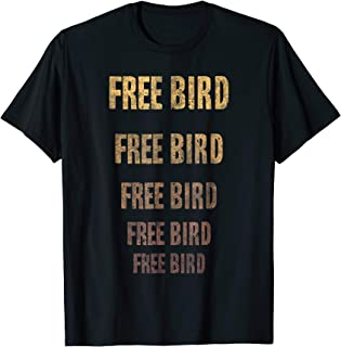 LyricLyfe T-Shirt Free Bird by Ronnie Van Zant & A Collins