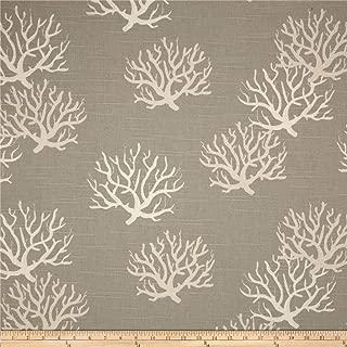 Premier Prints Isadella Coral Slub Coastal Grey/Natural Fabric by The Yard