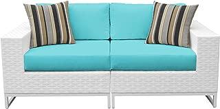 TK Classics MIAMI-02a-ARUBA Miami Seating Outdoor Wicker Furniture, Aruba