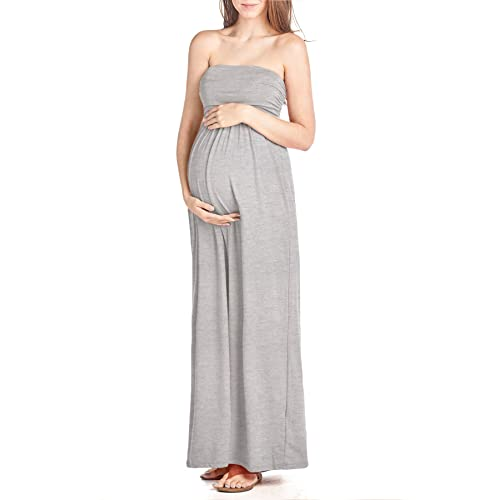Beachcoco Womens Maternity Comfortable Maxi Tube Dress Made in USA