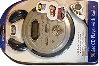 Living Solutions 60 sec cd player with radio