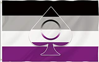 Bonsai Tree Asexual Flag 3x5 Ft Double Sided and Double Stitched Asexual Ring Symbol Flags with Brass Grommets Asexuality Pride Garden House Outdoor Banners Gifts