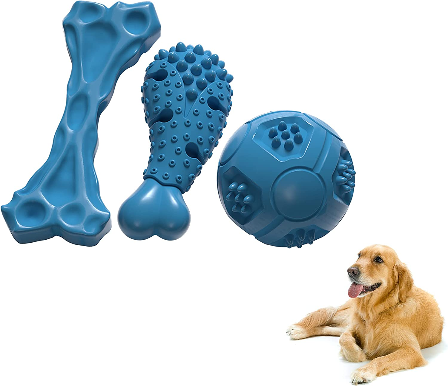 Laika Tough Dog Max 85% Sale item OFF Toys for Aggressive of Chewers Indestruct 3 Set