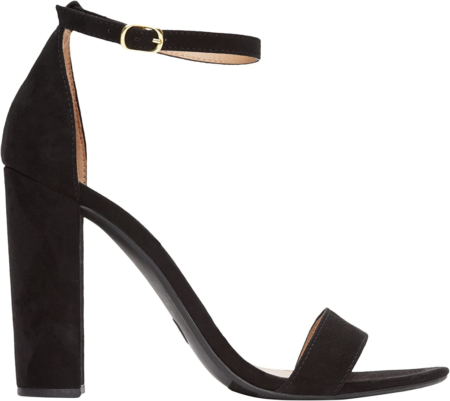 Rohb by Joyce Azria Monaco High Block Heel Ankle Strap Sandal (Black)