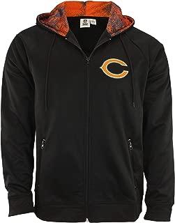 chicago bears full zip hoodie