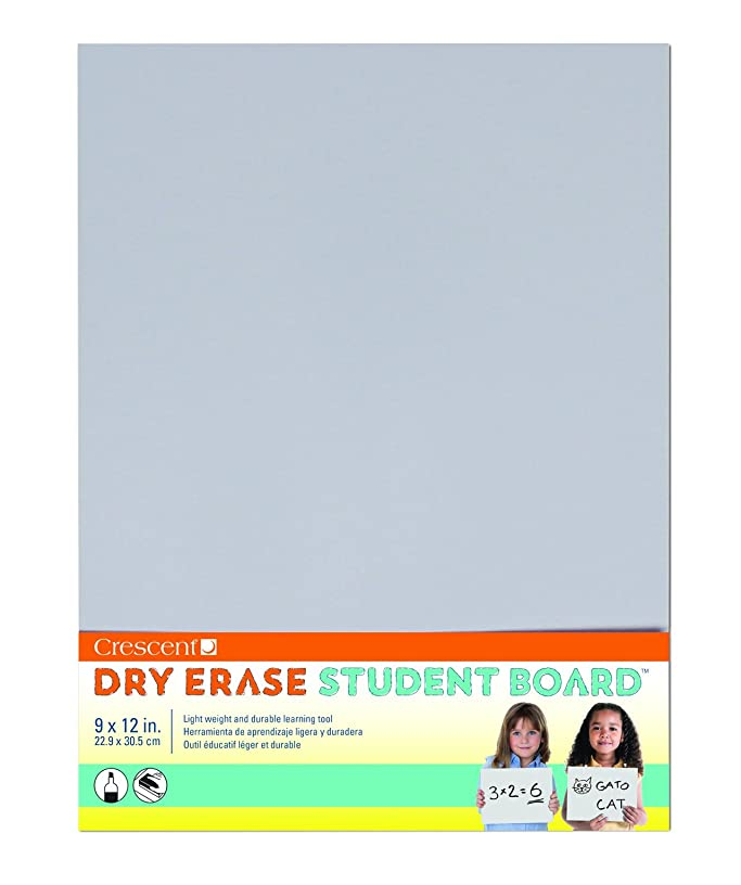 Crescent Creative Products Light Gray Dry Erase Student Board 9