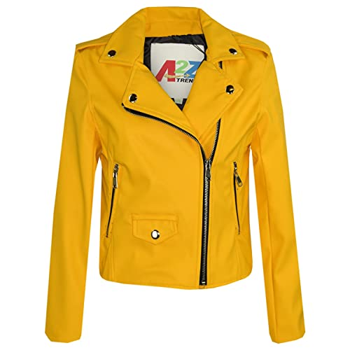 90e3346fa A2Z 4 Kids® Kids Jackets Girls Designer s PU Leather Jacket Fashion Zip Up  Biker Coat