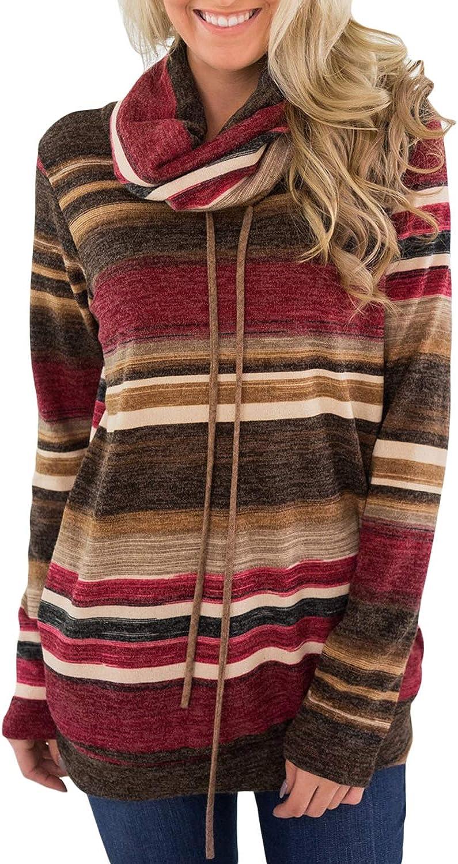 Dearlove Womens Long Sleeve Cowl Neck Casual Sweatshirt Tops with Pockets (S-XXL)