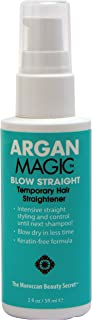 ARGAN MAGIC - Blow Straight Temporary Hair Straightener & Smoother (2 Ounce / 59 Milliliter)