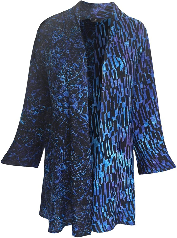 Fashion Fulfillment Plus Size Tunic Cardigan   Women's Bell Sleeve, Handmade by GF, O S (1X3X)