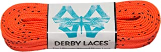 Derby Laces Orange 108 Inch Waxed Skate Lace for Roller Derby,  Hockey and Ice Skates,  and Boots