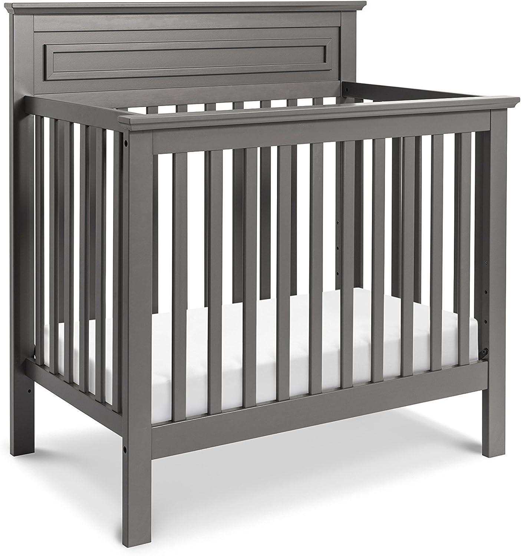 DaVinci Autumn 2-in-1 Mini Crib and Twin Bed with Mattress Pad, Slate