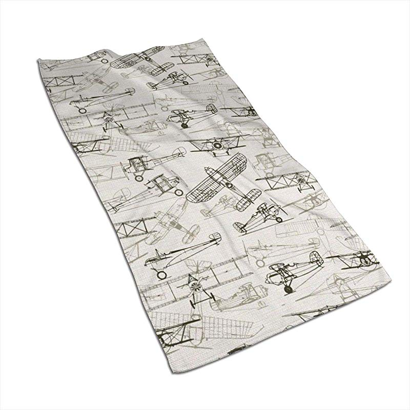 NFURTIDH Old Fashioned Airplanes Microfiber Dish Towel 27 5 X 17 5 Inch Soft Super Absorbent Home Kitchen Towels Cloths For Spills Drying Dishes Cooking Wash Car Dish Towels