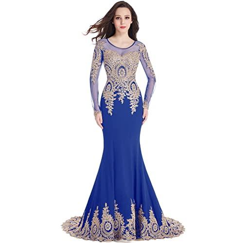 a9659ddc08d1c Royal Blue and Gold Dress: Amazon.com