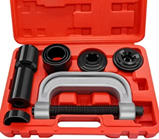 AURELIO TECH 10PCs Ball Joint Press Kit & U Joint Removal Tool with 4x4 Adapters, for Most 2WD and 4WD Cars and Light Trucks