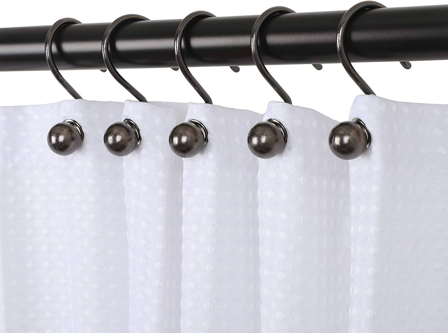 Utopia Alley Ball Shower Curtain Hooks, Rustproof Aluminum Shower Curtain  Hooks for Bathroom Shower Rods Curtains, Set of 20   Oil Rubbed Bronze