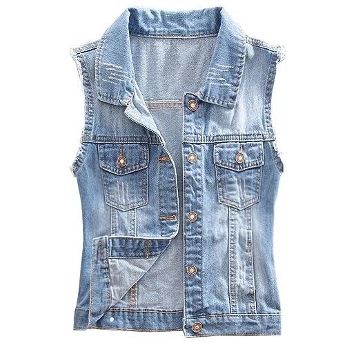 a7d7bb6bdf Eternally Loved Eternal Women Winter Spring Cotton Sleeveless Jeans Denim  Vest Jacket Outerwear Clothes