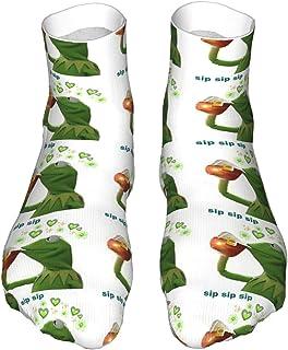 popluck, Sip Sip Sip Sip - Calcetines para adultos con diseño de rana (30 cm)