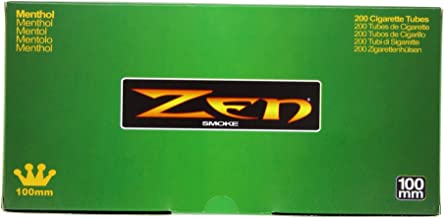 1 Box - 200pc Zen 100mm Menthol Cigarette Tubes