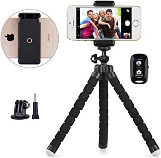 Goodstuffshop Phone Tripod, Portable and Adjustable Camera Stand Holder with Wireless Remote and Universal Clip, Compatibl...