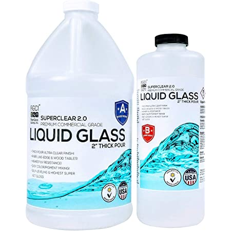 Deep Pour Epoxy Resin Kit Crystal Clear Liquid Glass - 2 to 4 Inches Plus Clear Epoxy Resin at One Time for Live Edge, River Tables and Wood Filler- ¾ Gallon Clear Casting Pourable Epoxy Resin Kit