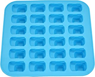 Fairly Odd Novelties FON-10004 Mini Car Shape Flexible 24 Ice Tray Mold Blue Rubber Novelty Gag Gift, One Size