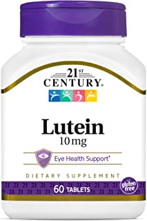 21st Century Lutein 10 mg Tablets, 60 Count