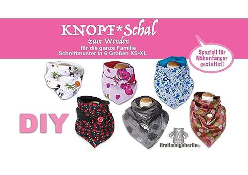 KNOPF-Schal auch zum Wenden in 5 Größen für die ganze Familie Schnittmuster & Nähanleitung [Download]