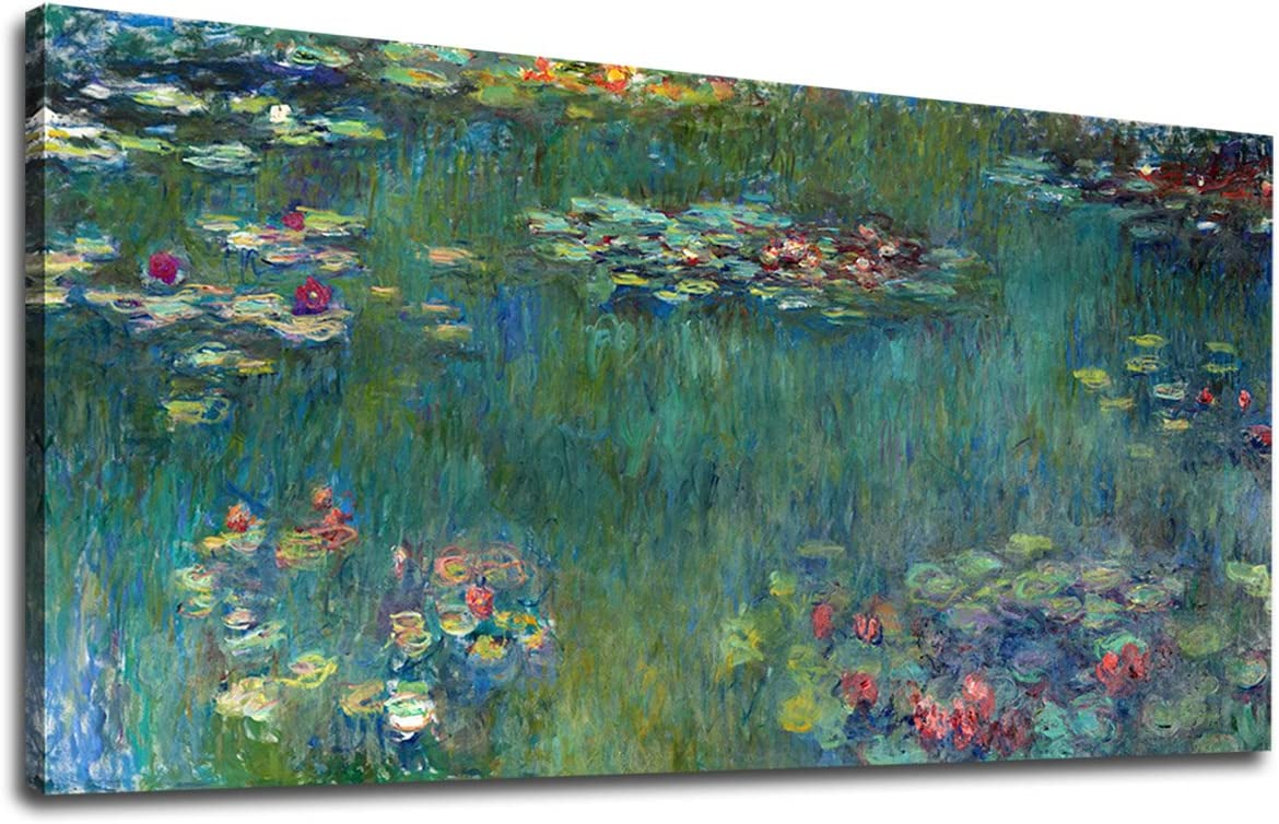 canvas wall art,extra large canvas art,large canvas wall art p67 Claude Monet,Water Lilies,Water lily pond,canvas print,canvas art