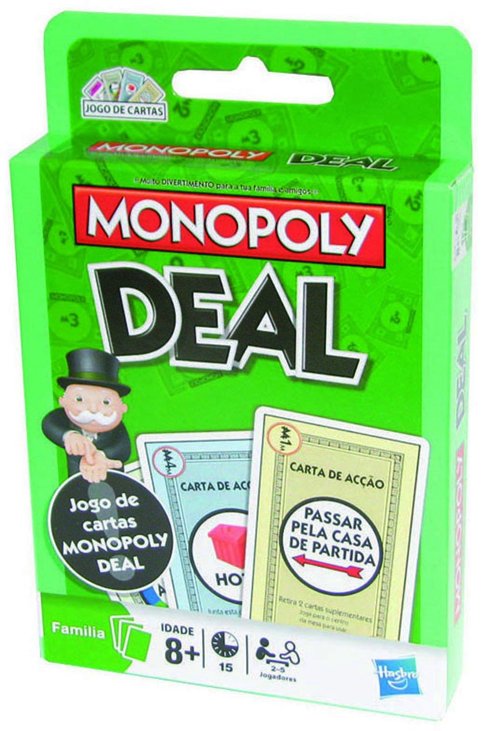 Hasbro 02231393 - Juego de cartas Monopoly (versión portugués): Amazon.es: Juguetes y juegos