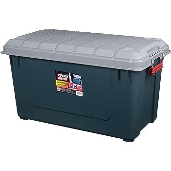 アイリスオーヤマ 密閉 収納 BOX ロック機能付き 702×370×389 密閉RVBOX 700 グレー/ダークグリーン