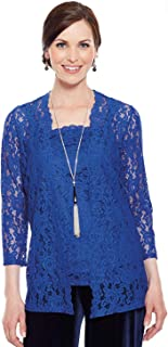 Amber Ladies Womens Lace Cardigan and Camisole