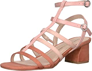 Chinese Laundry Women's Monroe Heeled Sandal, Peach Suede, 9 M US
