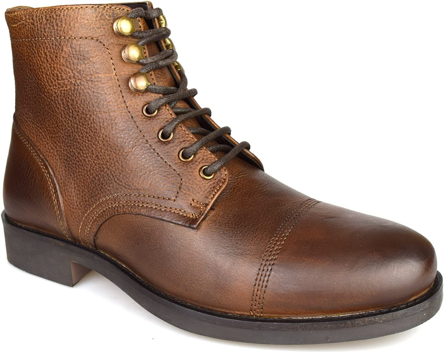 Silver Street Harley Brown Leather Casual Mens Military Boots