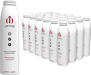 UPTIME Original Citrus Zero Sugar Natural Caffeine, Sparkling, Natural Flavors 12 oz Bottles (24 Pack)