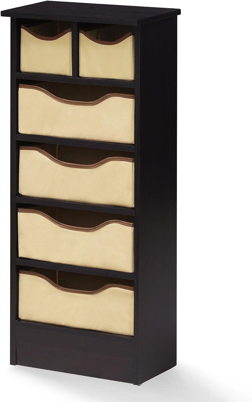 Furinno 17062EX Espresso Mini 6 Drawer Organizer