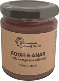 Yummium Rooh-e-Anar, Pomegranate Molasses, Homemade Natural Fruit Preserve, Free from Artificial Preservatives, Color and ...