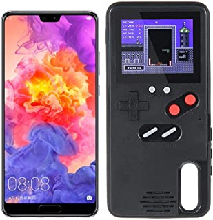TEEPAO Gameboy Case for Huawei P20, Retro 3D Protective Cover Case with 36 Small Game, Full Color Display, Shockproof Video Game Case for Mate20 Pro / Nova3 / P20 / P20 Pro