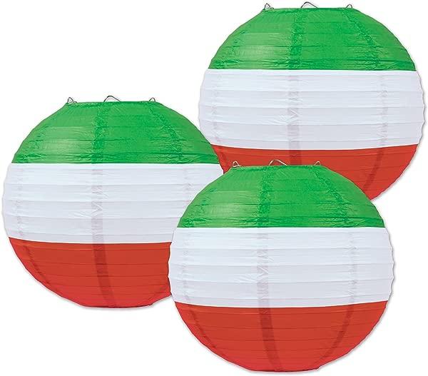 贝斯特尔纸灯笼 9 1 英寸红白绿超值 2 包