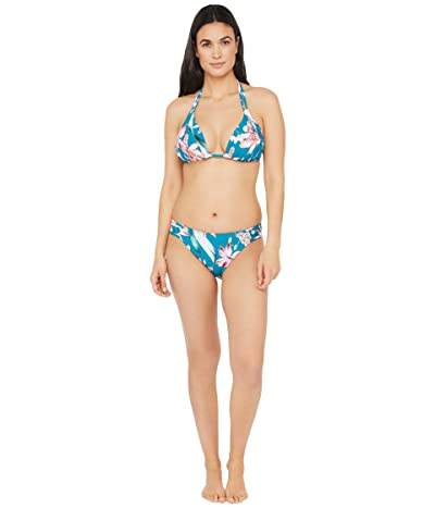La Blanca Flyaway Orchid Double Strap Halter Bra Bikini Swimsuit Top (Caribbean Current) Women