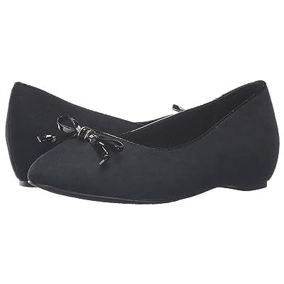 Soft Style Cahill (Black Faux Suede/Black Patent) Women