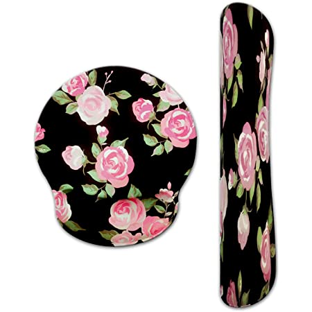 Miyaso Keyboard Wrist Rest Pad and Mouse Wrist Rest Support Mouse Pad Set Ergonomic Support for Easy Typing /& Pain Relief Charming Roses