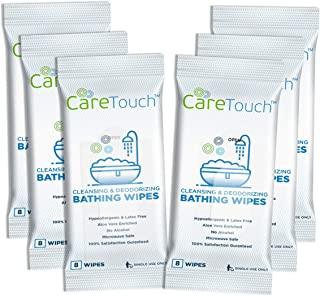 Care Touch Body Wet Wipes with Cleansing & Deodorizing Solution - Shower Wipes for Adults - Great for Gym, Camping, Travel...