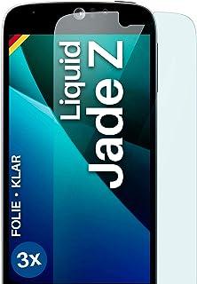 moex Klar skyddsfolie kompatibel med Acer Liquid Jade Z – displayfolie kristallklar, HD-displayskydd, tunn reptålig film, ...
