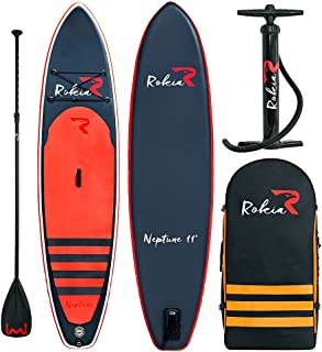 Rokia R Inflatable Stand Up Paddleboard 11 Feet (6 Inches Thick) Premium SUP for All Skill Levels