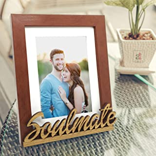 Art street Soul Mate Customize Table Photo Frame for Valentine Day(Photo Size 6X8) Photo Gift/Love Gift/Valentine Gift- Brown