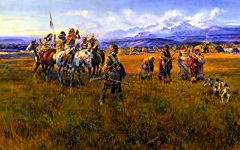 Lewis and Clark Reach Shoshone Camp Led by Sacajawea the Bird Woman by Charles Marion Russell - 18