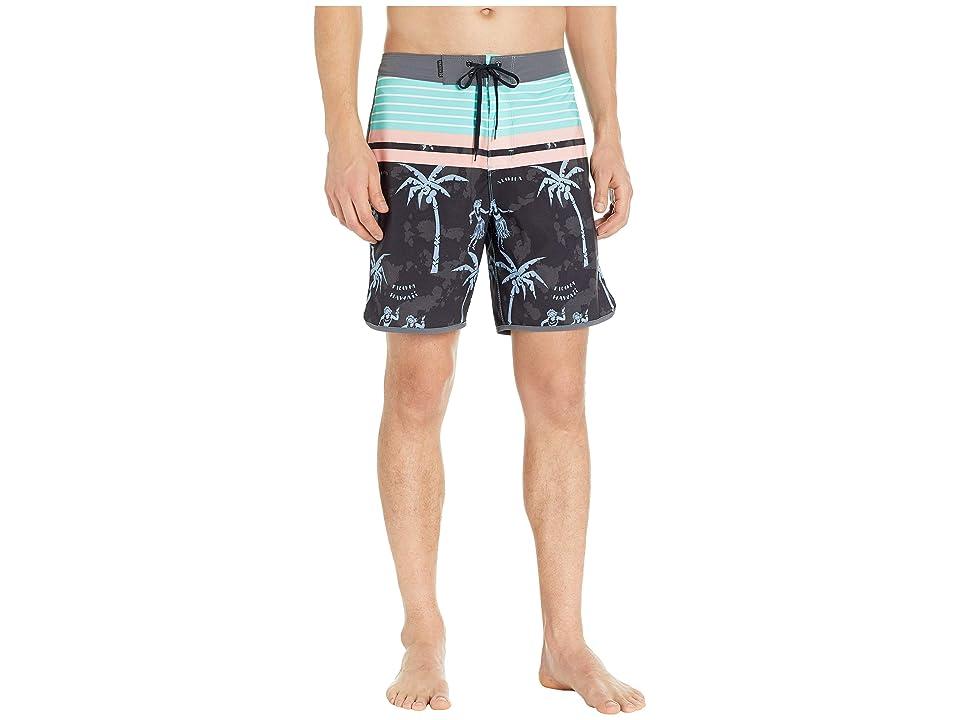 Hurley Phantom Aloha Twist 18 Boardshorts (Black) Men