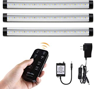 Albrillo Dimmable Remote Control LED Under Cabinet Lighting (3-Bar-Kit, Warm White 3000K)