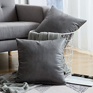 Best gray leather throw pillows Reviews
